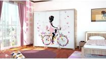 Italy Style tolóajtós gardrób (E11) (Ifjúsági és gyerekbútorok)